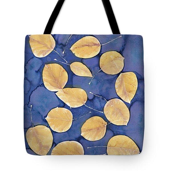 Aspen Leaves On Water Tote Bag