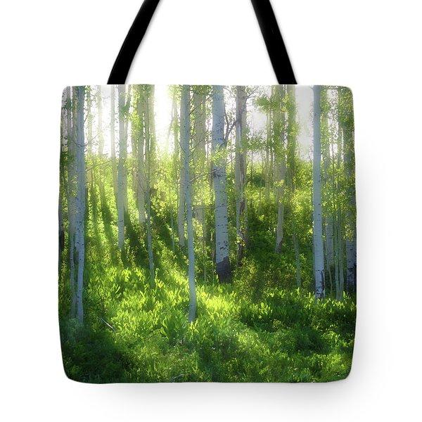 Aspen Morning 3 Tote Bag