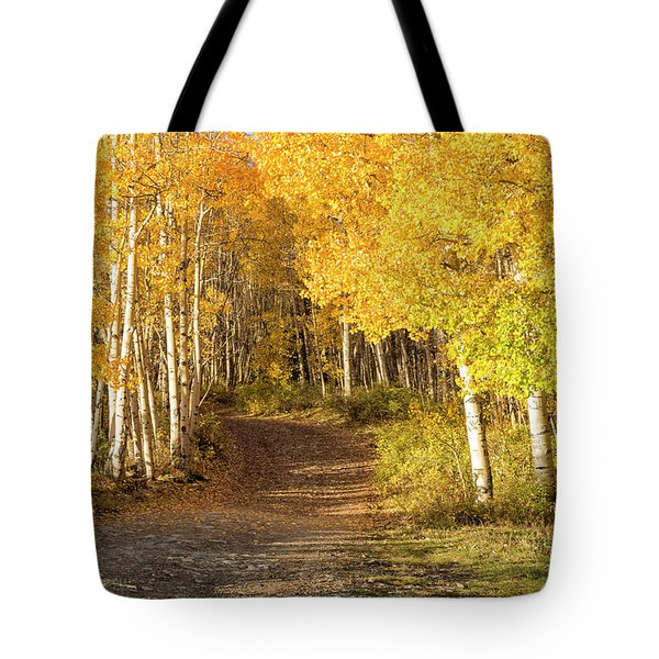 Aspen Path Tote Bag