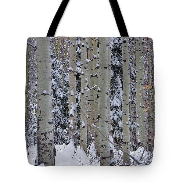 Aspen Snow Tote Bag