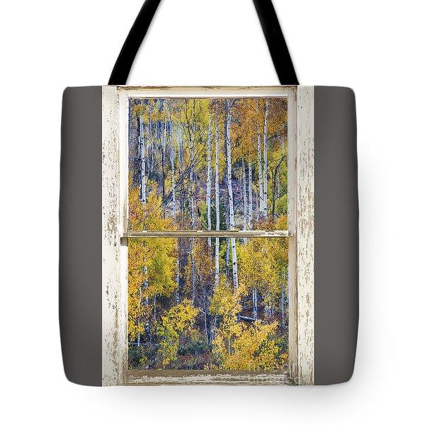 Aspen Tree Magic Cottonwood Pass White Farm House Window Art Tote Bag by James BO  Insogna