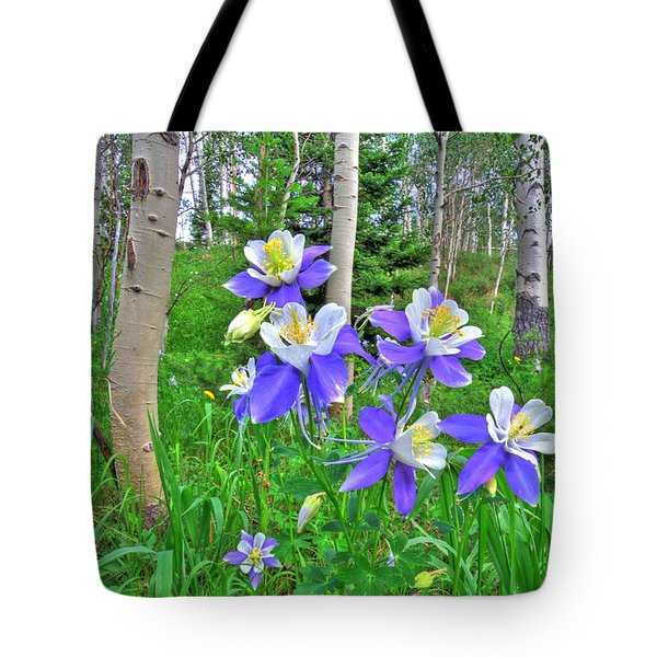 Aspens And Columbines Tote Bag