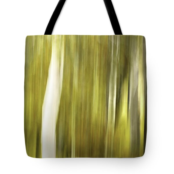 Aspens And Golden Foliage Abstract Tote Bag