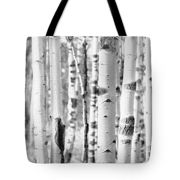 Tote Bag featuring the photograph Aspens In Black And White  by Saija Lehtonen
