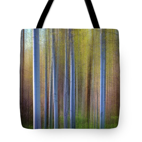 Aspens In Springtime Tote Bag