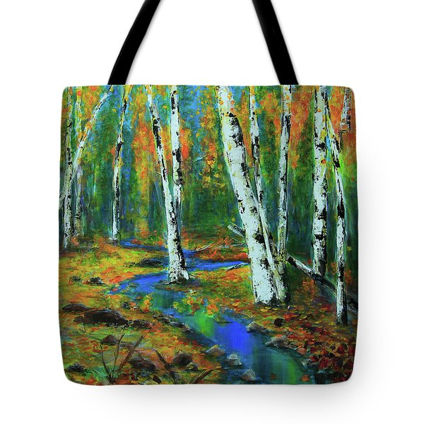 Aspens Tote Bag by Jeanette French