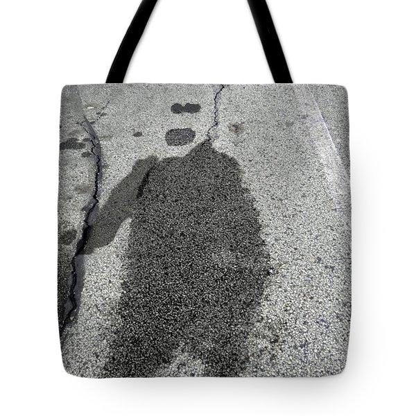 Tote Bag featuring the photograph Asphalt Man by Lyric Lucas
