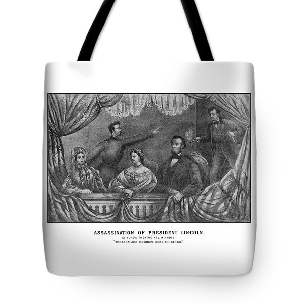 Assassination Of President Lincoln Tote Bag