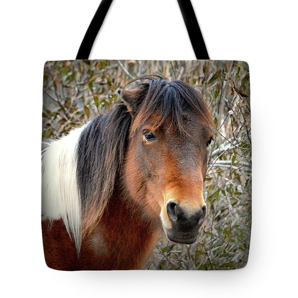 Tote Bag featuring the photograph Assateague Island Pony Patricia Irene by Assateague Pony Photography