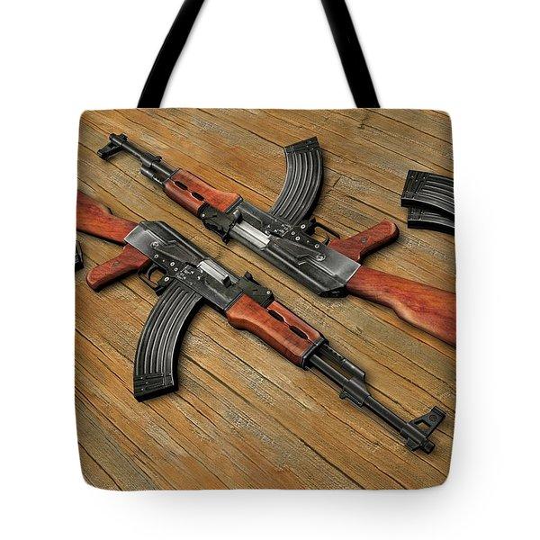 Assault Rifle Tote Bag
