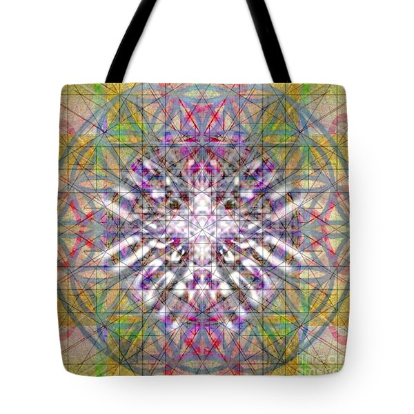 Assent From The Womb In The Flower Tree Of Life Tote Bag by Christopher Pringer
