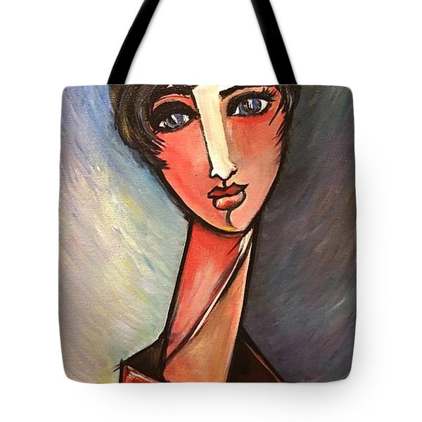 Tote Bag featuring the painting Assisente Di Volo by Laurie Maves ART
