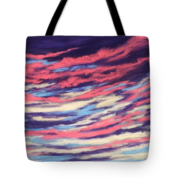 Tote Bag featuring the painting Associations - Sky And Clouds Collection by Anastasiya Malakhova