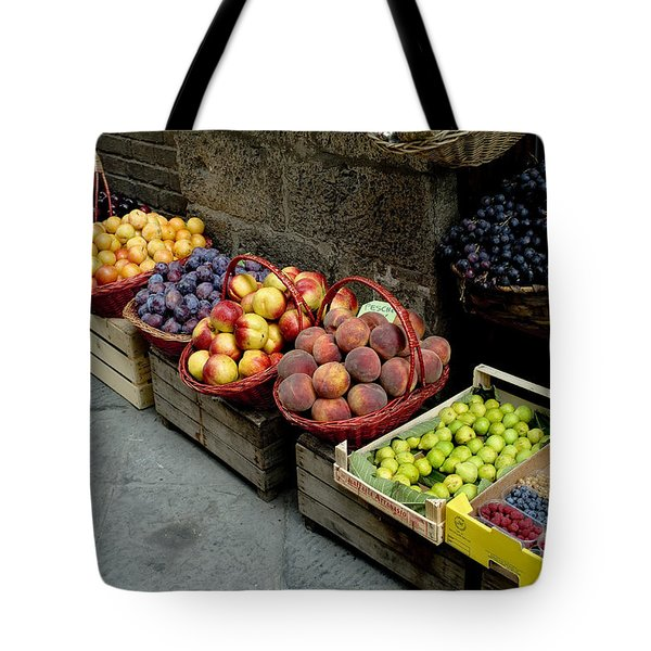 Assorted Fresh Fruits Of Berries Tote Bag by Todd Gipstein