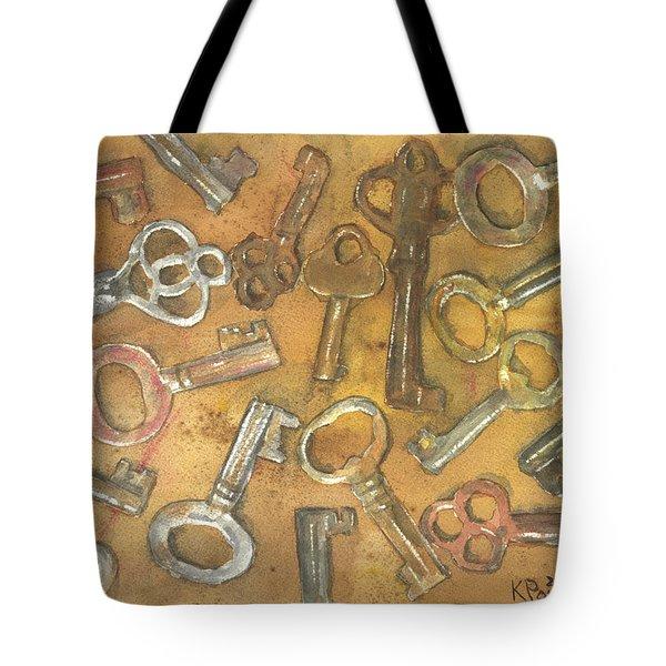 Assorted Skeleton Keys Tote Bag