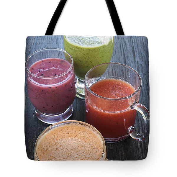 Assorted Smoothies Tote Bag by Elena Elisseeva