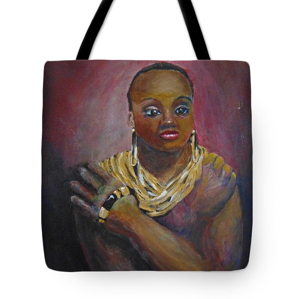 Tote Bag featuring the painting Assured by Saundra Johnson