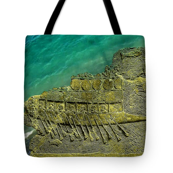 Assyrian Warship Tote Bag