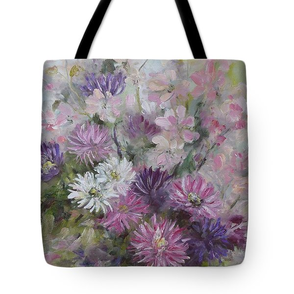 Asters And Stocks Tote Bag
