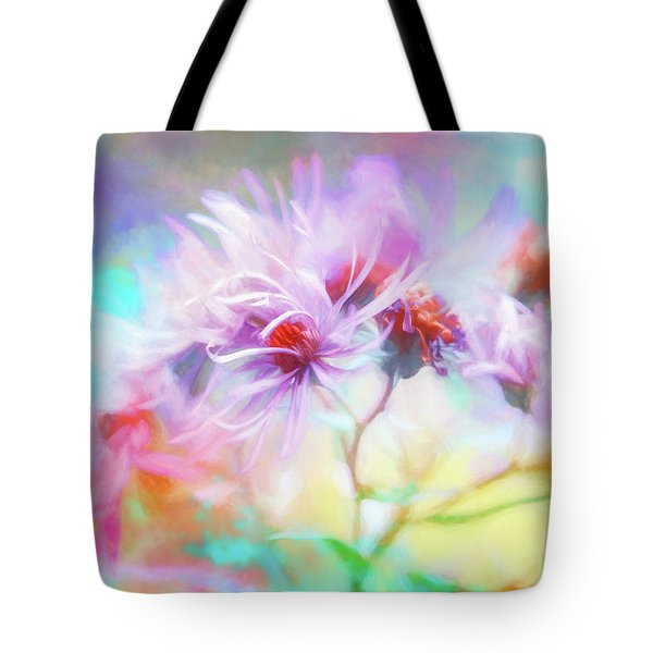 Asters Gone Wild Tote Bag