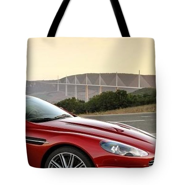 Aston Martin Dbs 2008 Red Side View Sport Mountain 27693 300x480 Tote Bag