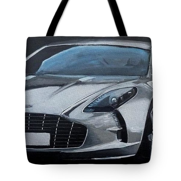 Tote Bag featuring the painting Aston Martin One-77 by Richard Le Page