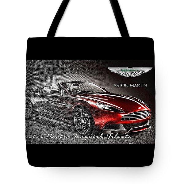 Aston Martin Vanquish Volante  Tote Bag by Serge Averbukh