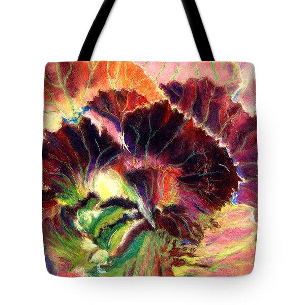 Astonishing Cabbage  Pastel Tote Bag by Antonia Citrino