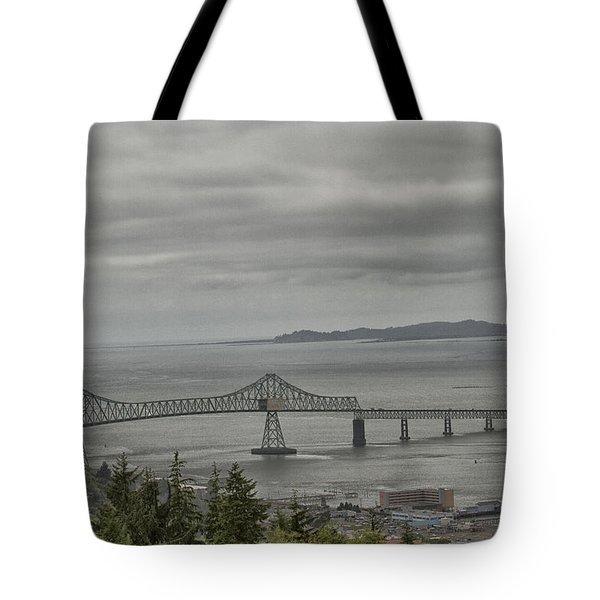Tote Bag featuring the photograph Astoria, Gateway To Oregon by Tom Kelly
