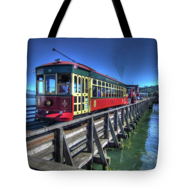 Astoria Riverfront Trolley Tote Bag