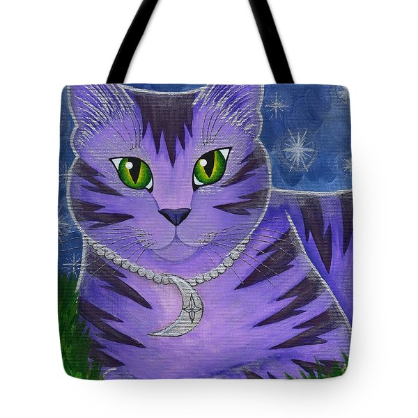Astra Celestial Moon Cat Tote Bag