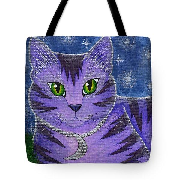 Astra Celestial Moon Cat Tote Bag