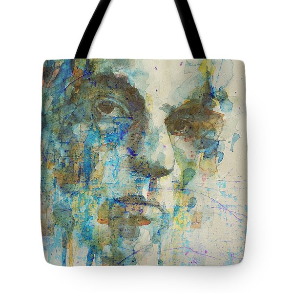 Tote Bag featuring the mixed media Astral Weeks by Paul Lovering
