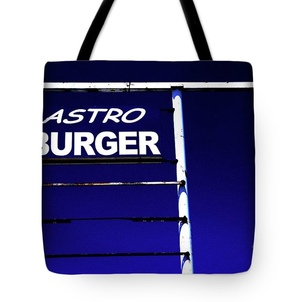 Tote Bag featuring the photograph Astro Burger by Jim and Emily Bush