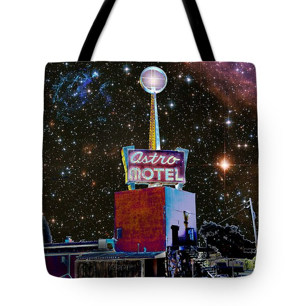Tote Bag featuring the photograph Astro Motel by Jim and Emily Bush