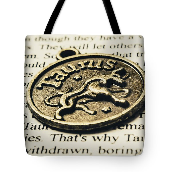 Astrological Definition In Taurus Tote Bag