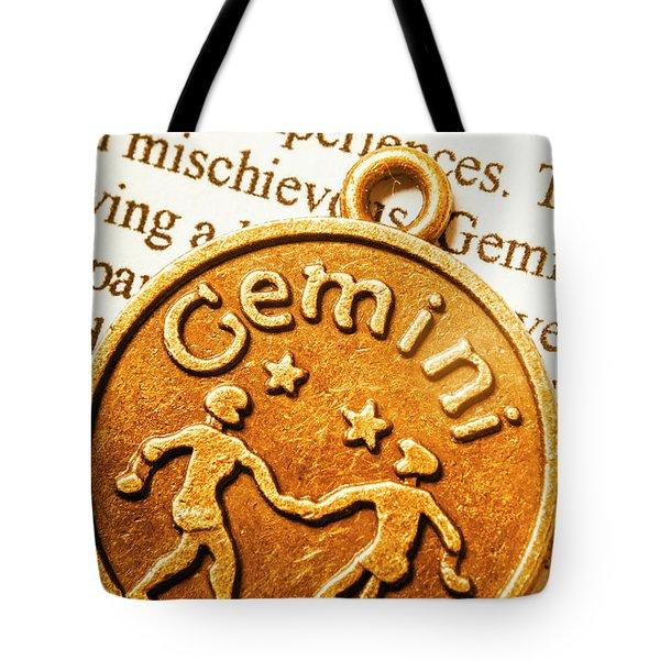 Astrological Gemini Tote Bag
