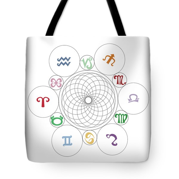 Astrological Sacred Geometry Image Tote Bag