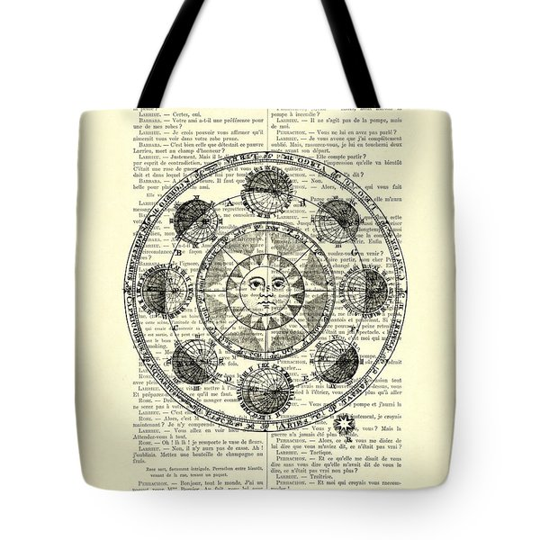 Astrology Chart, Solar System Tote Bag