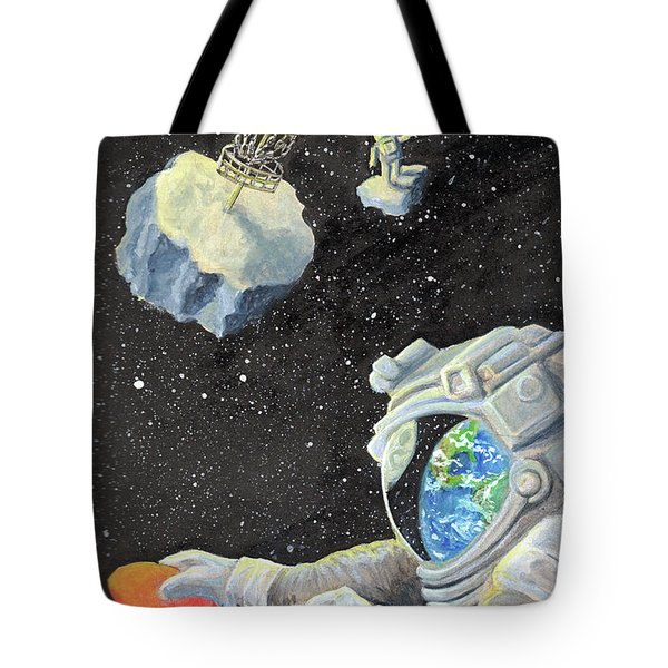 Astronaut Disc Golf Tote Bag