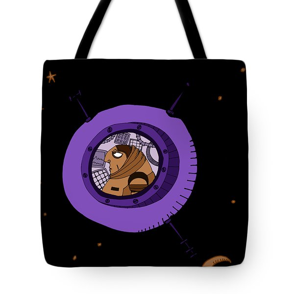 Astronaut In Deep Space Tote Bag