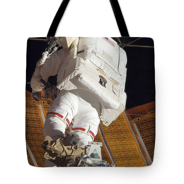 Astronaut Installs Stabilizers Tote Bag by Stocktrek Images