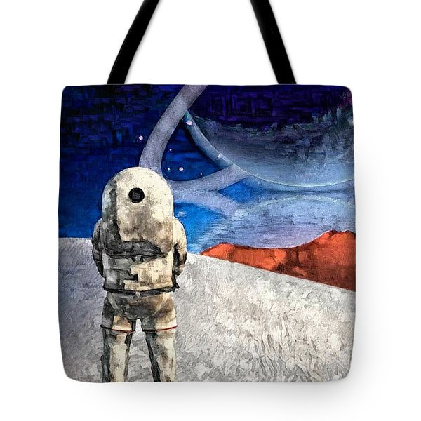 Astronaut On Exosolar Planet Tote Bag