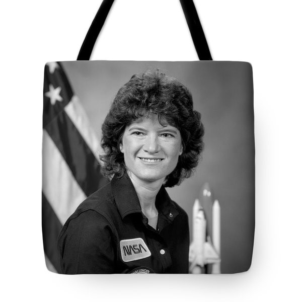 Astronaut Sally Ride  Tote Bag by War Is Hell Store