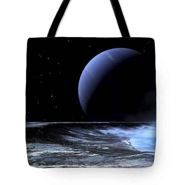 Astronaut Standing On The Edge Tote Bag by Frank Hettick