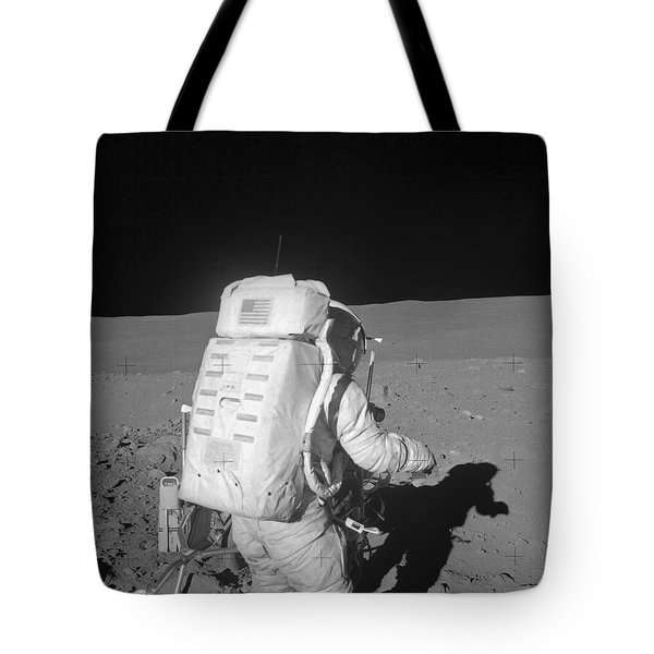 Astronaut Walking On The Moon Tote Bag by Stocktrek Images