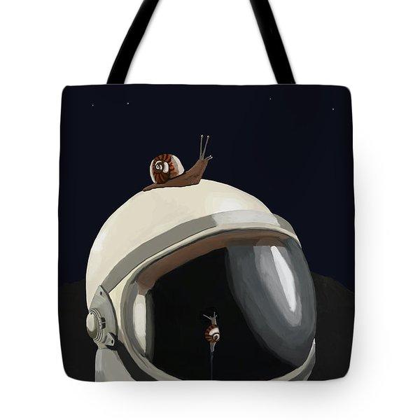 Astronaut's Helmet Tote Bag by Keshava Shukla