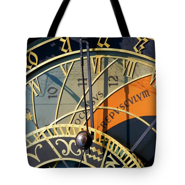 Tote Bag featuring the photograph Astronomical Clock Prague by KG Thienemann