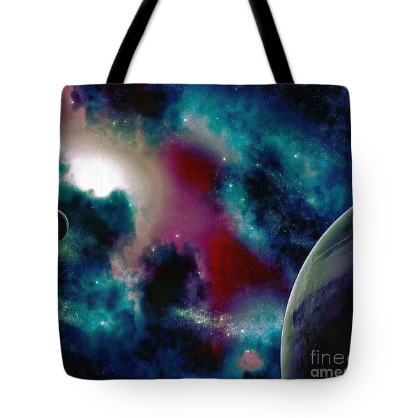 Astronomy Painting Glammed Out Teal Tote Bag