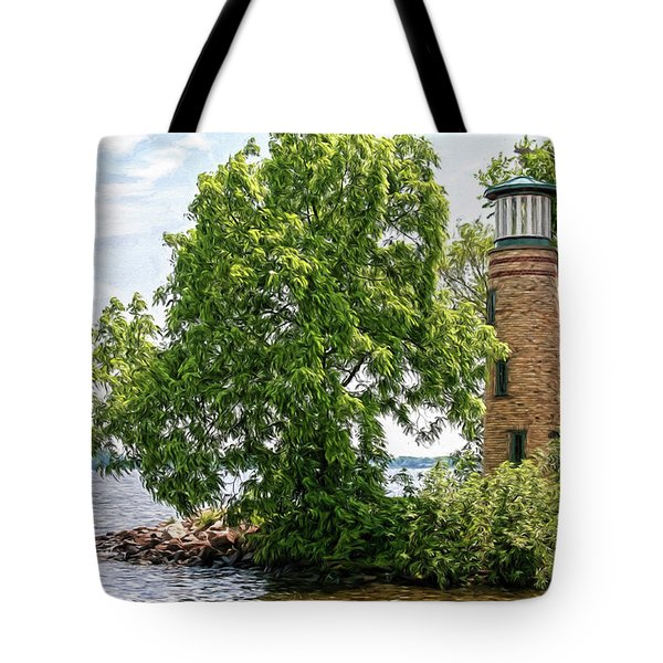 Asylum Point Lighthouse 1 Tote Bag by Trey Foerster